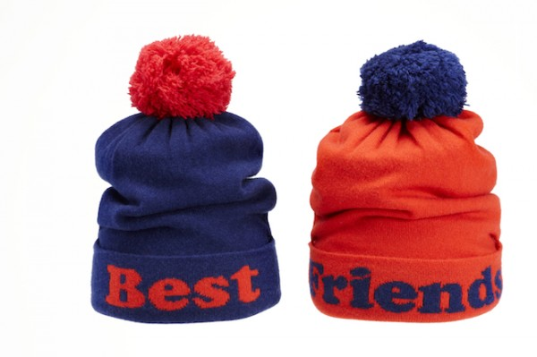 The Target Neiman Marcus Holiday Collection Favorites featured by top San Francisco life and style blog, Just Add Glam: image of pom pom best friends beanies