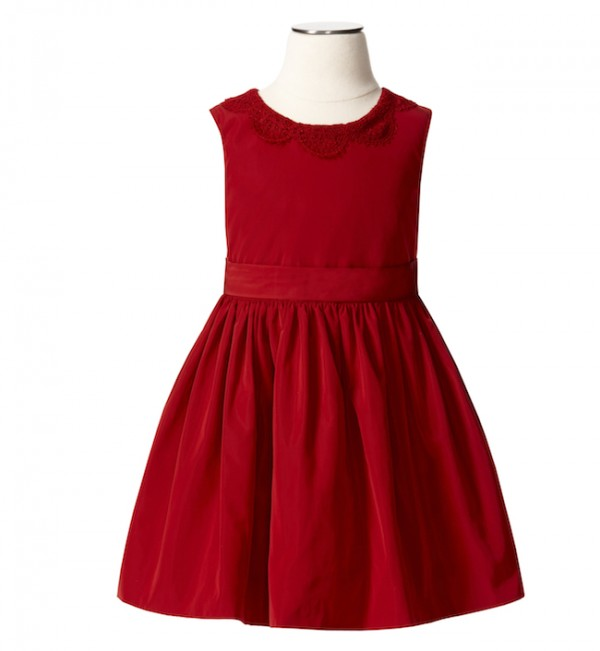 The Target Neiman Marcus Holiday Collection Favorites featured by top San Francisco life and style blog, Just Add Glam: image of a girl's red holiday dress