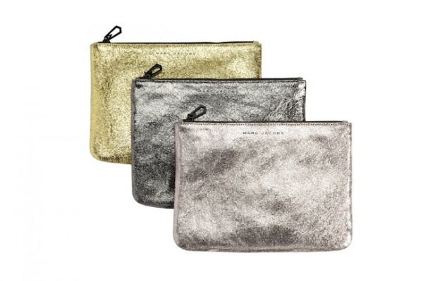 The Target Neiman Marcus Holiday Collection Favorites featured by top San Francisco life and style blog, Just Add Glam: image of metallic pouches