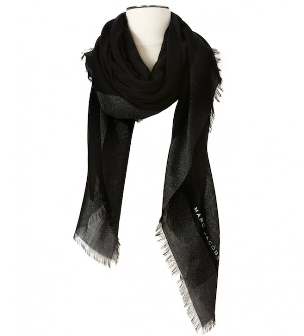 The Target Neiman Marcus Holiday Collection Favorites featured by top San Francisco life and style blog, Just Add Glam: image of a black scarf