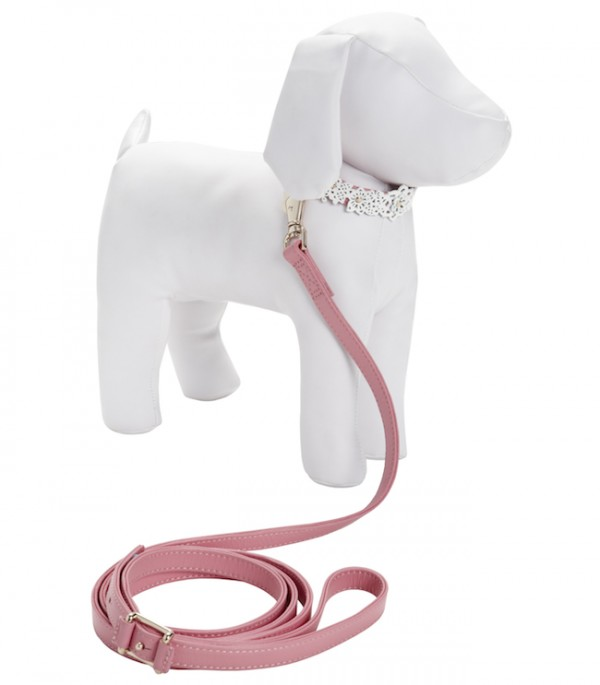 The Target Neiman Marcus Holiday Collection Favorites featured by top San Francisco life and style blog, Just Add Glam: image of a pink pet collar & leash