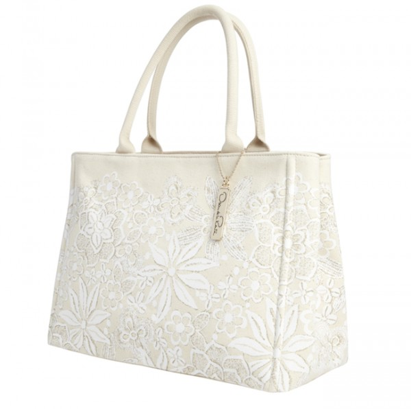 The Target Neiman Marcus Holiday Collection Favorites featured by top San Francisco life and style blog, Just Add Glam: image of a floral tote