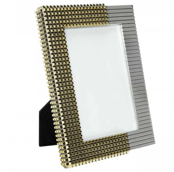 The Target Neiman Marcus Holiday Collection Favorites featured by top San Francisco life and style blog, Just Add Glam: image of a metallic photo frame