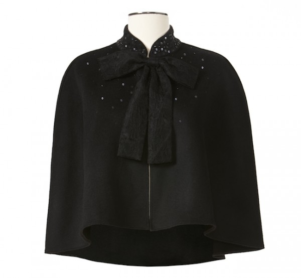 The Target Neiman Marcus Holiday Collection Favorites featured by top San Francisco life and style blog, Just Add Glam: image of a black cape