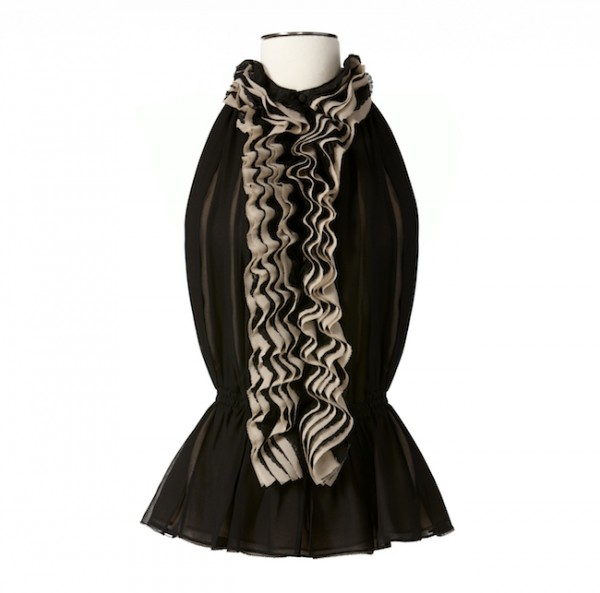 The Target Neiman Marcus Holiday Collection Favorites featured by top San Francisco life and style blog, Just Add Glam: image of a black ruffle top