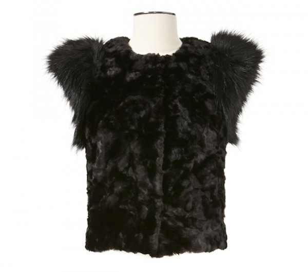 The Target Neiman Marcus Holiday Collection Favorites featured by top San Francisco life and style blog, Just Add Glam: image of a faux fur vest