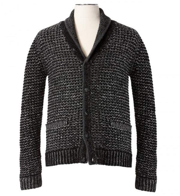The Target Neiman Marcus Holiday Collection Favorites featured by top San Francisco life and style blog, Just Add Glam: image of a men's grey cardigan