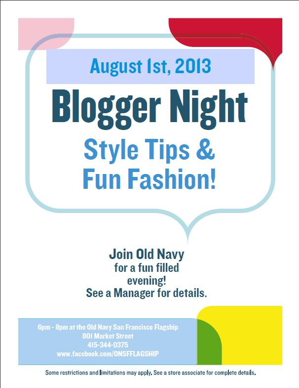 Old Navy Blogger Night