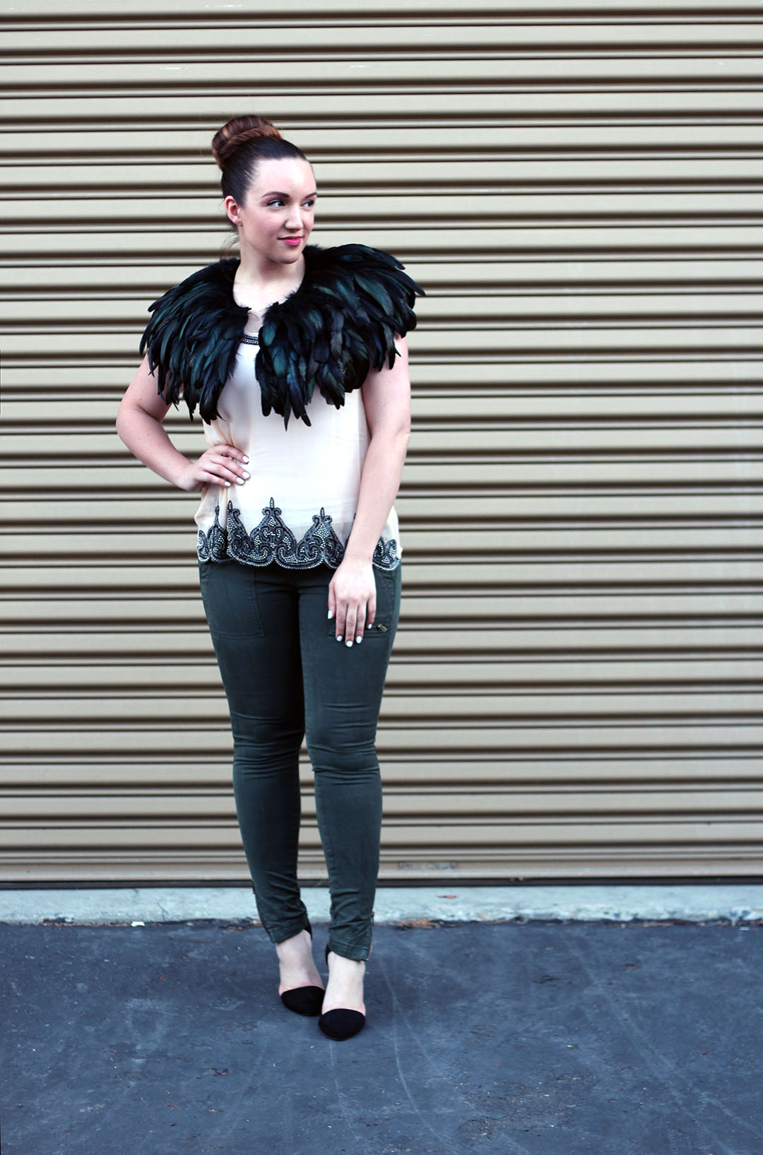 how to wear feathers - Just Add Glam