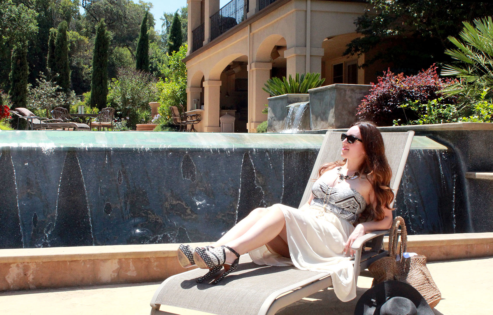 Alaia pool party heels featured by top San Francisco fashion blogger, Just Add Glam