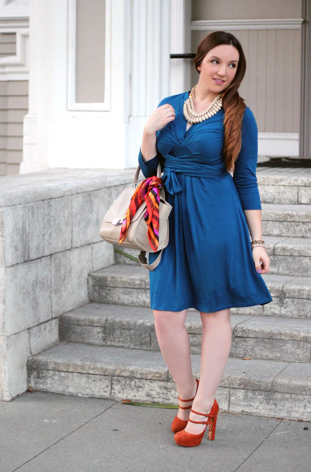 Issa blue wrap dress