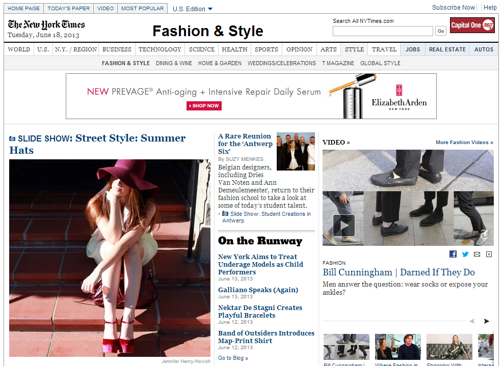 New York Times Fashion and Style Summer Hats