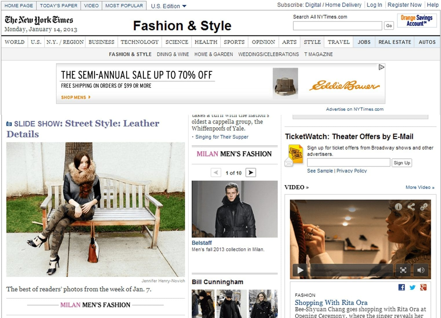 New York Times Fashion and Style
