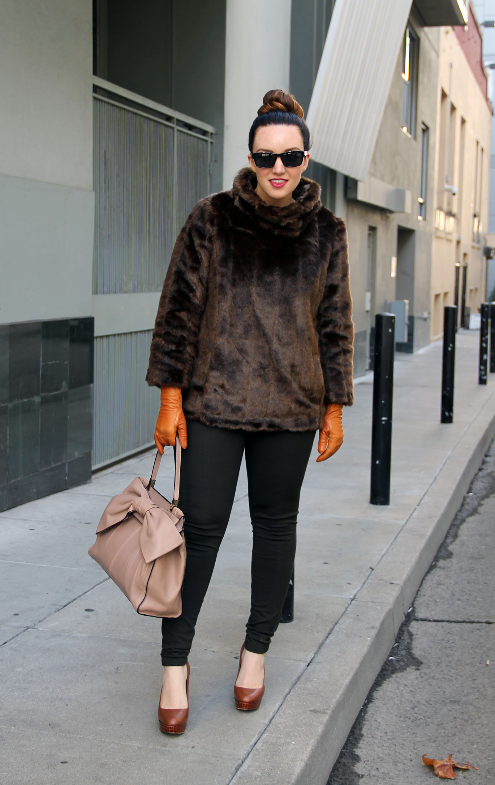 faux fur pullover