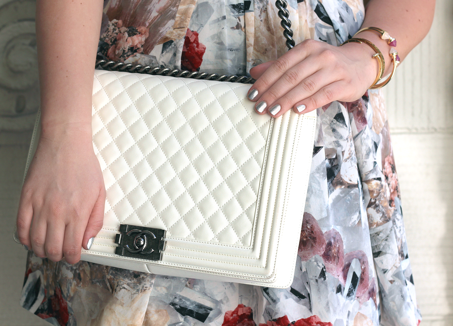 white chanel bag