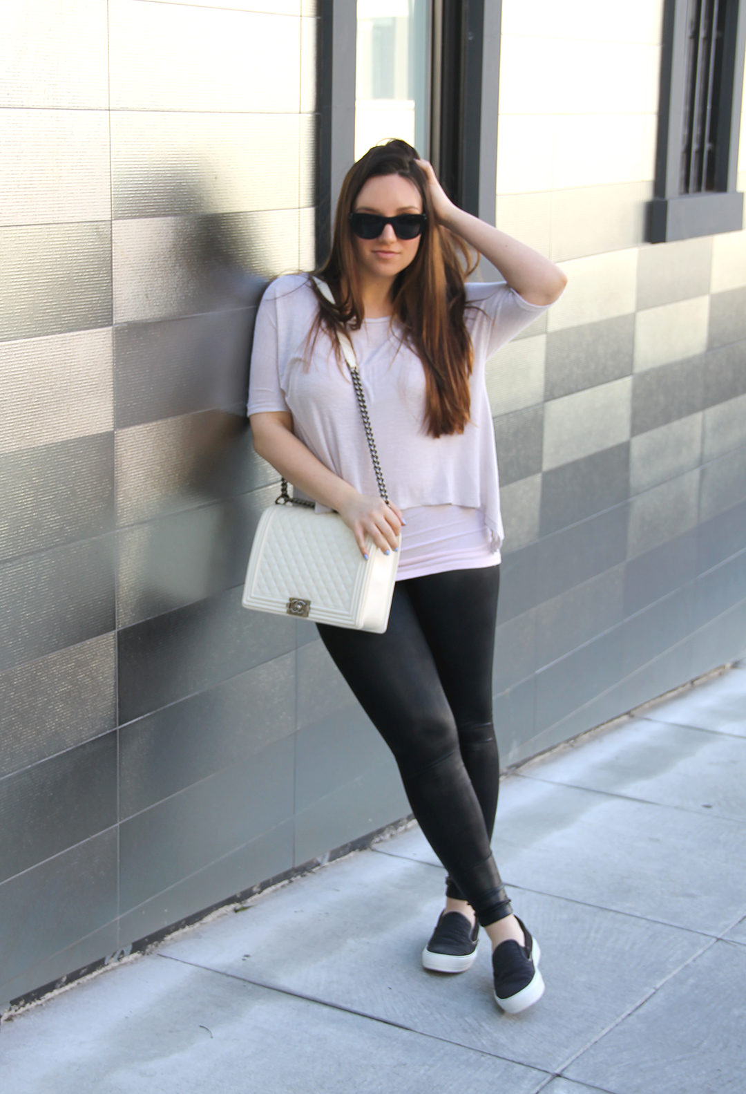 Salvatore Ferragamo slip on sneakers featured by popular San Francisco fashion blogger, Just Add Glam