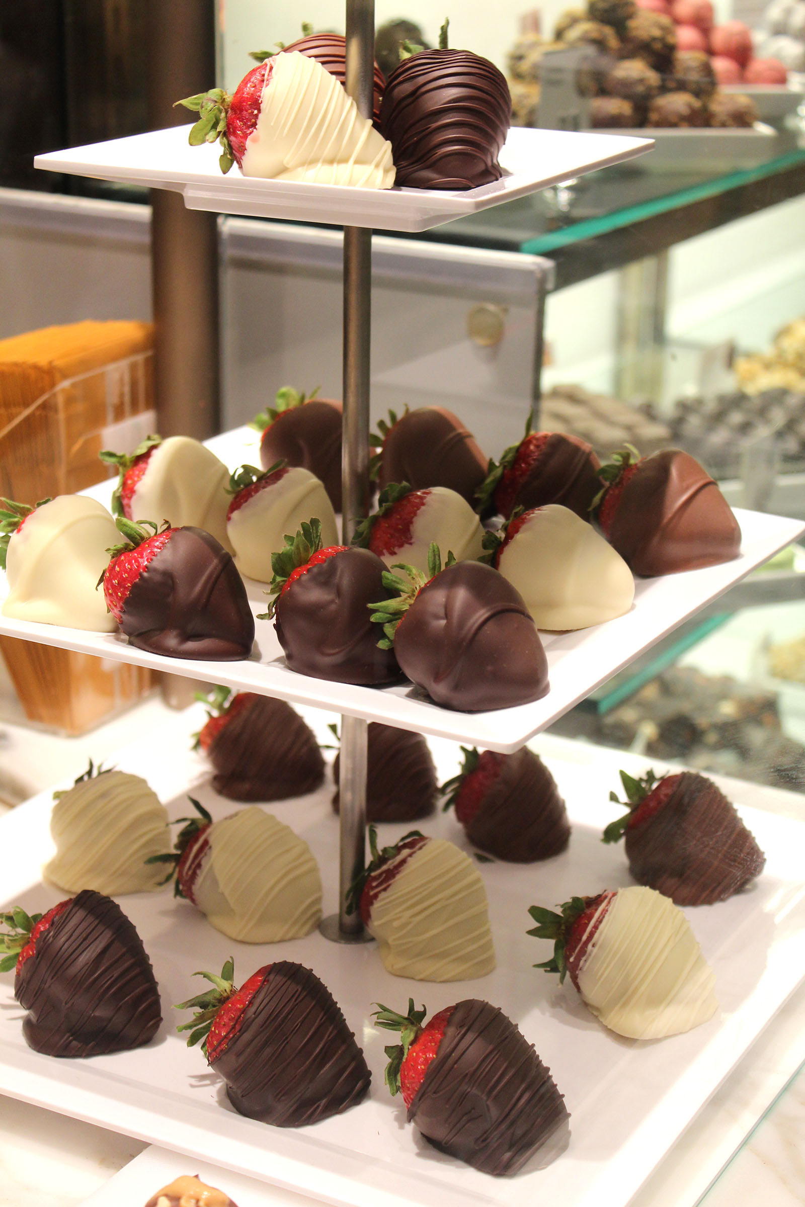 GODIVA chocolate strawberries