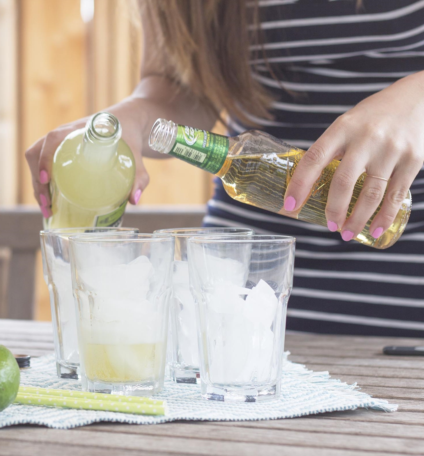 beer lime margartias