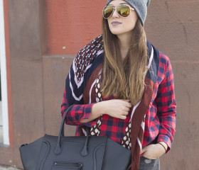 BEANIE AND PLAID