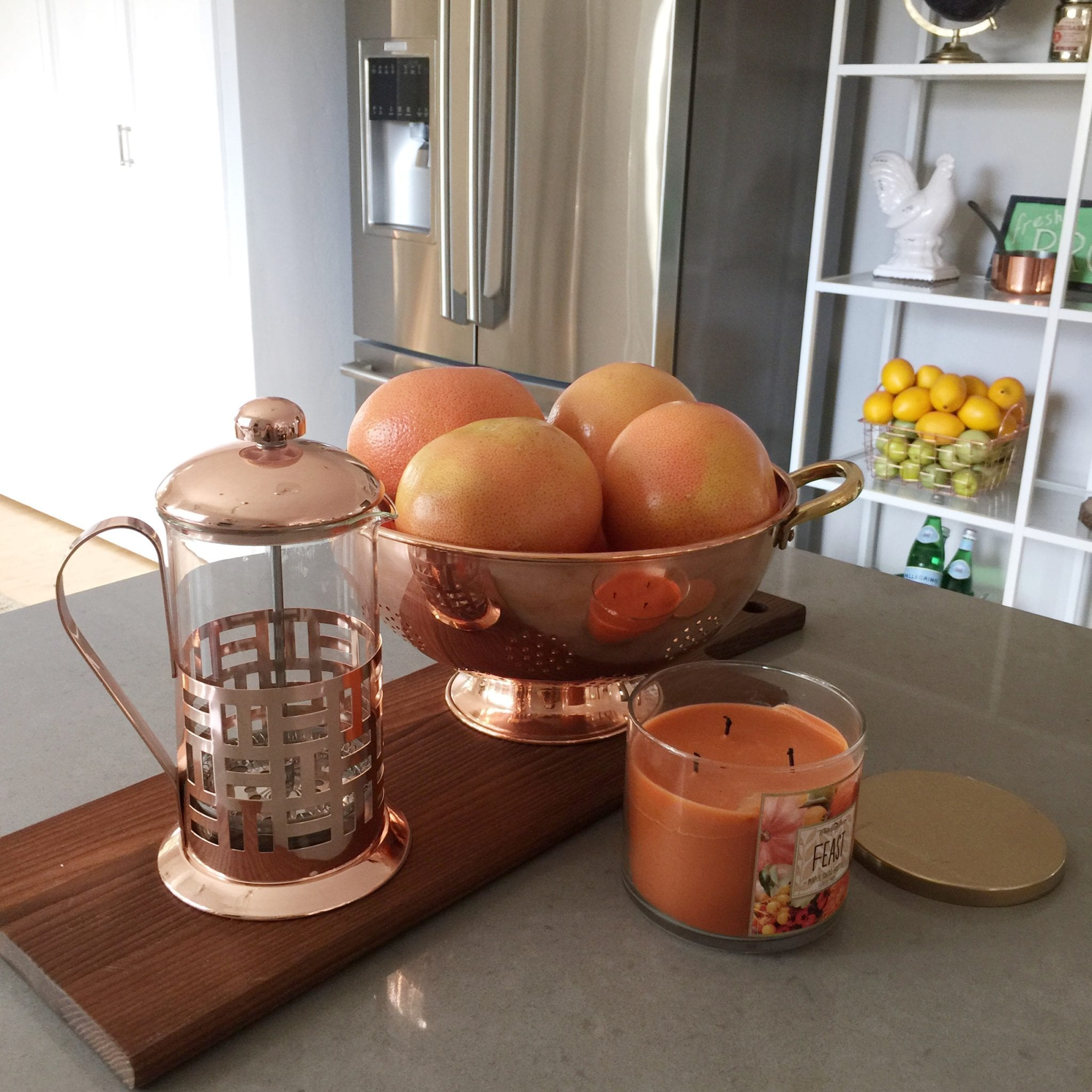 THE BEST LAST MINUTE GIFT IDEAS featured by top San Francisco life and style blog, Just Add Glam: image of Copper French Press