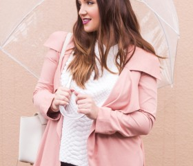 THE PINK TRENCH COAT