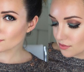 GET READY WITH ME: AQUA AND WARM BROWN EYES