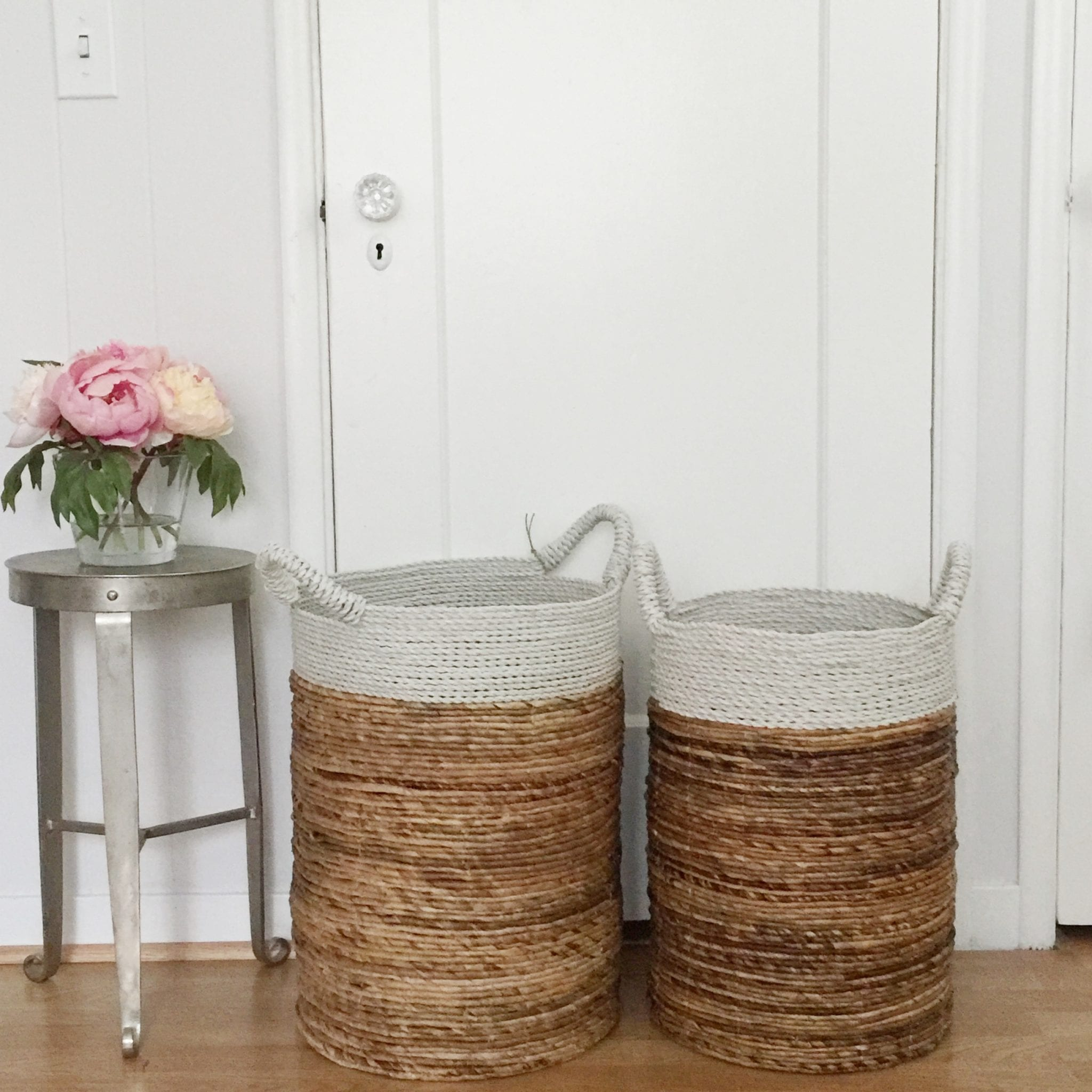 woven basket storage