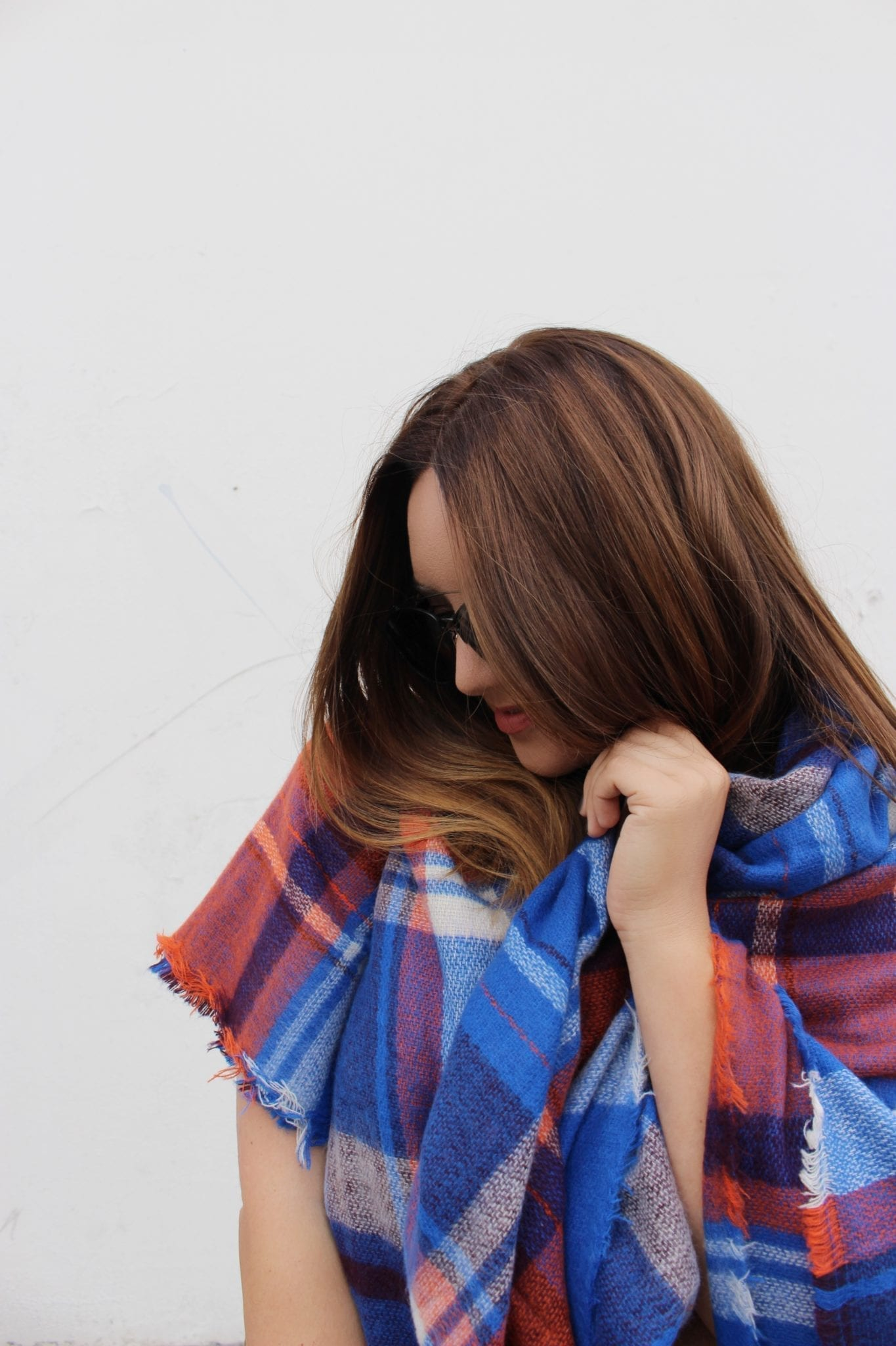 plaid fall scarf