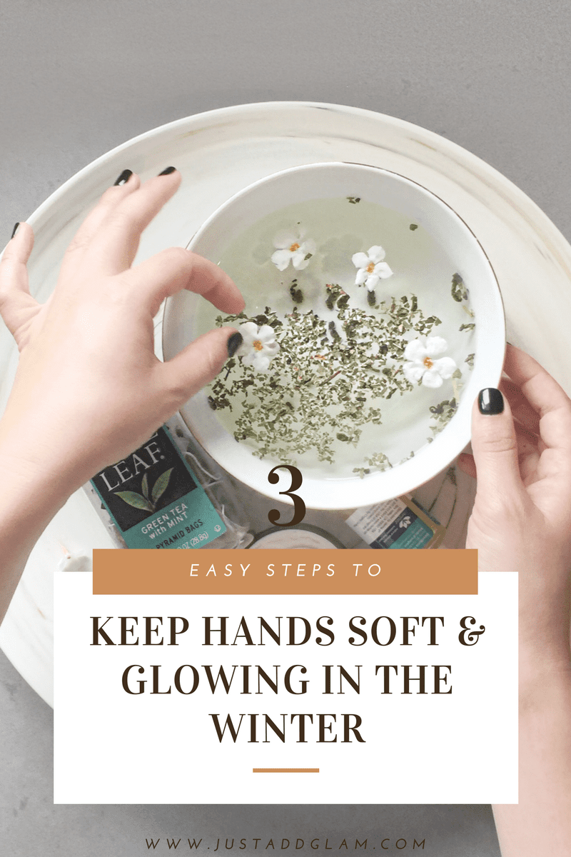 3 steps to keep hands glowing and soft in the winter