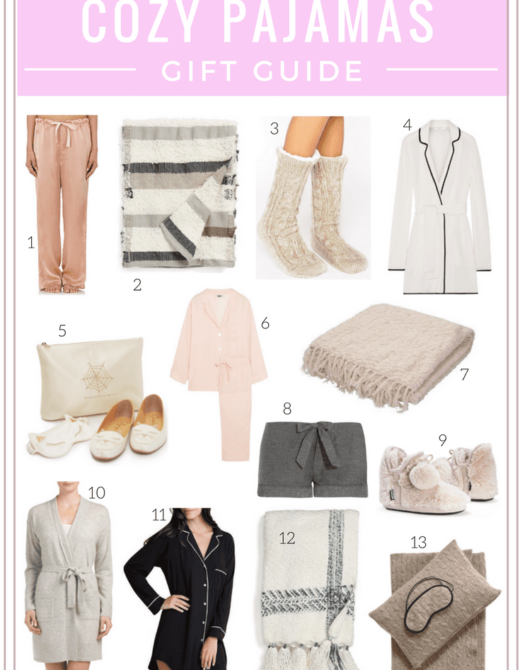 Gift guide: the best cozy pajamas featured by top San Francisco fashion blog, Just Add Glam