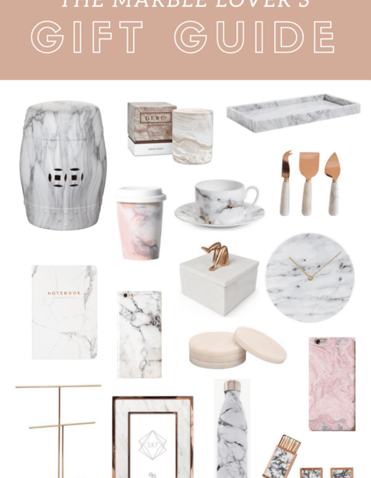 The Marble Lover's Gift Guide | | The Best Marble Gifts for the Marble Lover featured by popular San Francisco lifestyle blogger, Just Add Glam