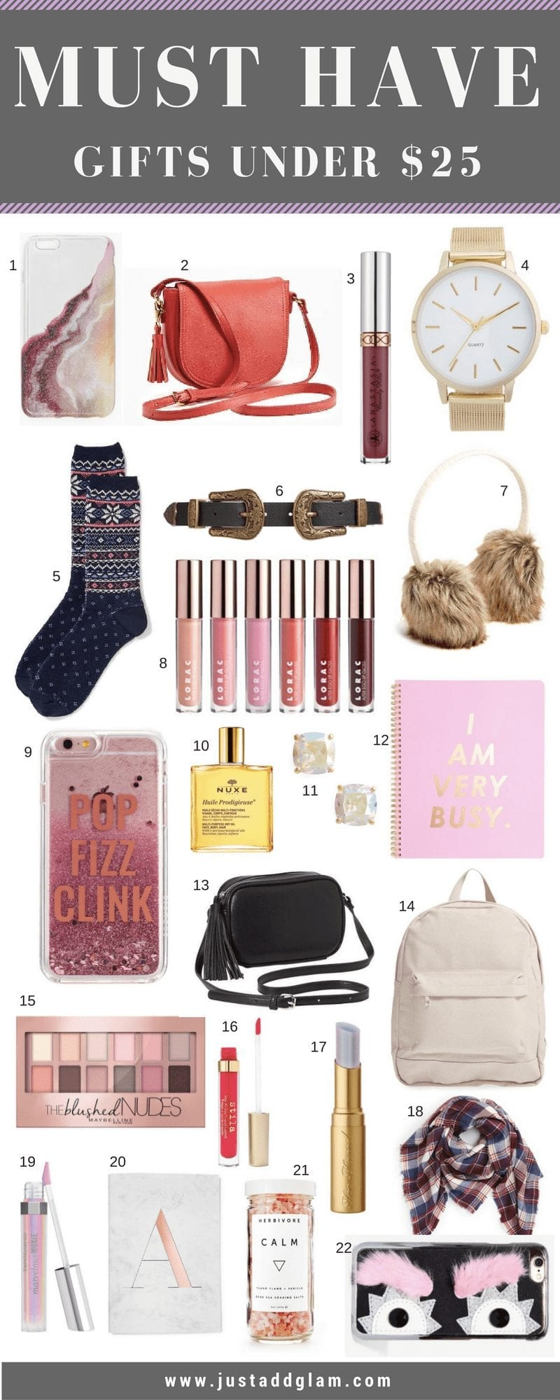 Must Have Gifts under $25 | THE BEST GIFTS UNDER $25 featured by top San Francisco lifestyle blog, Just Add Glam