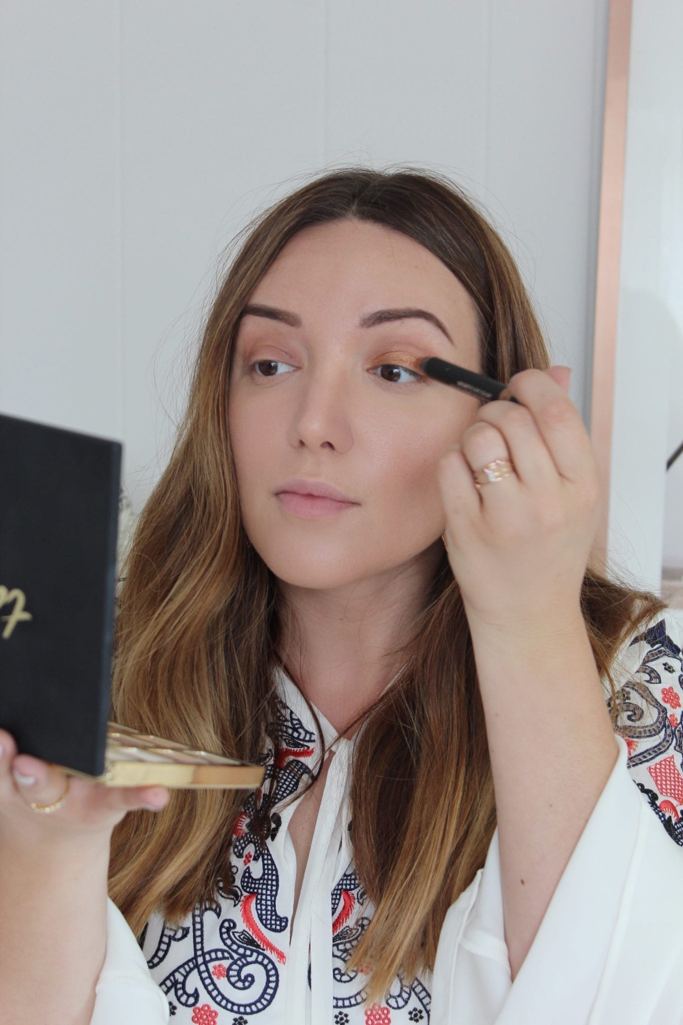 Ulta Beauty | Golden eyes makeup tutorial featured by top San Francisco beauty blog, Just Add Glam