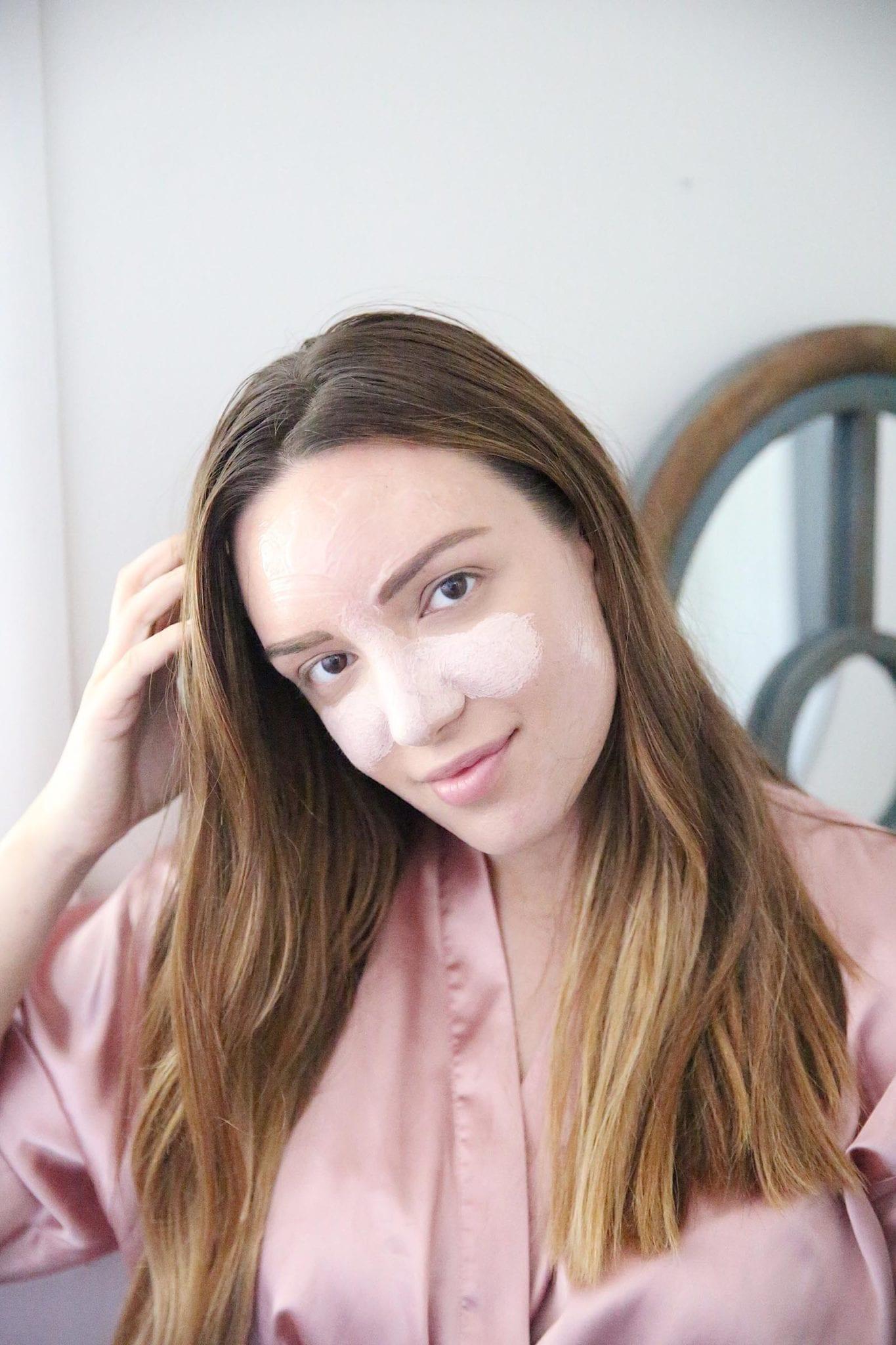 MULTI-MASKING WITH L'OCCITANE peony mask