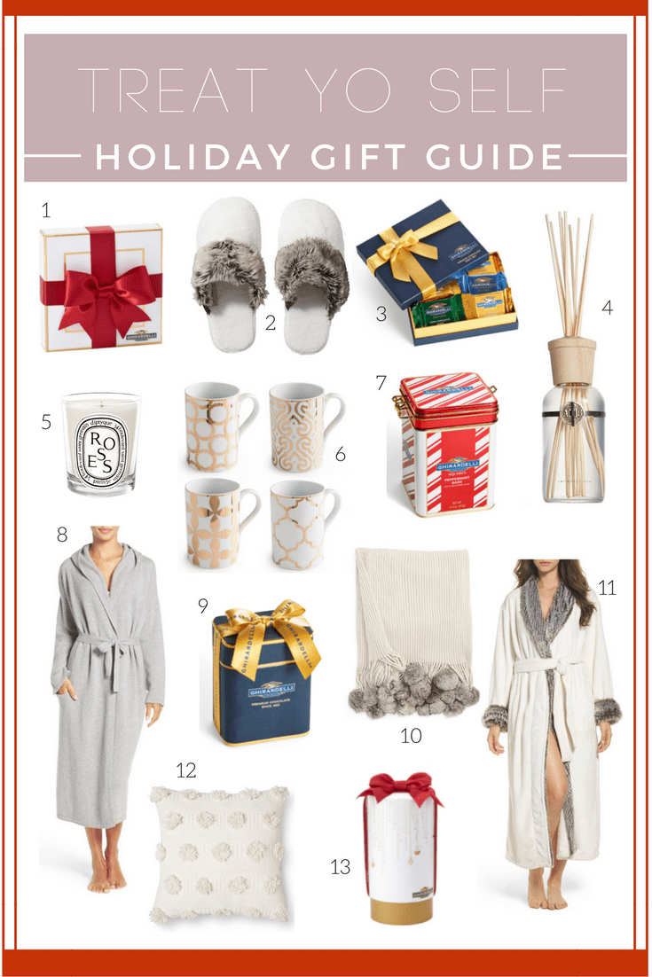 Holiday Treat Yo Self Gifts featured by top San Francisco lifestyle blog, Just Add Glam