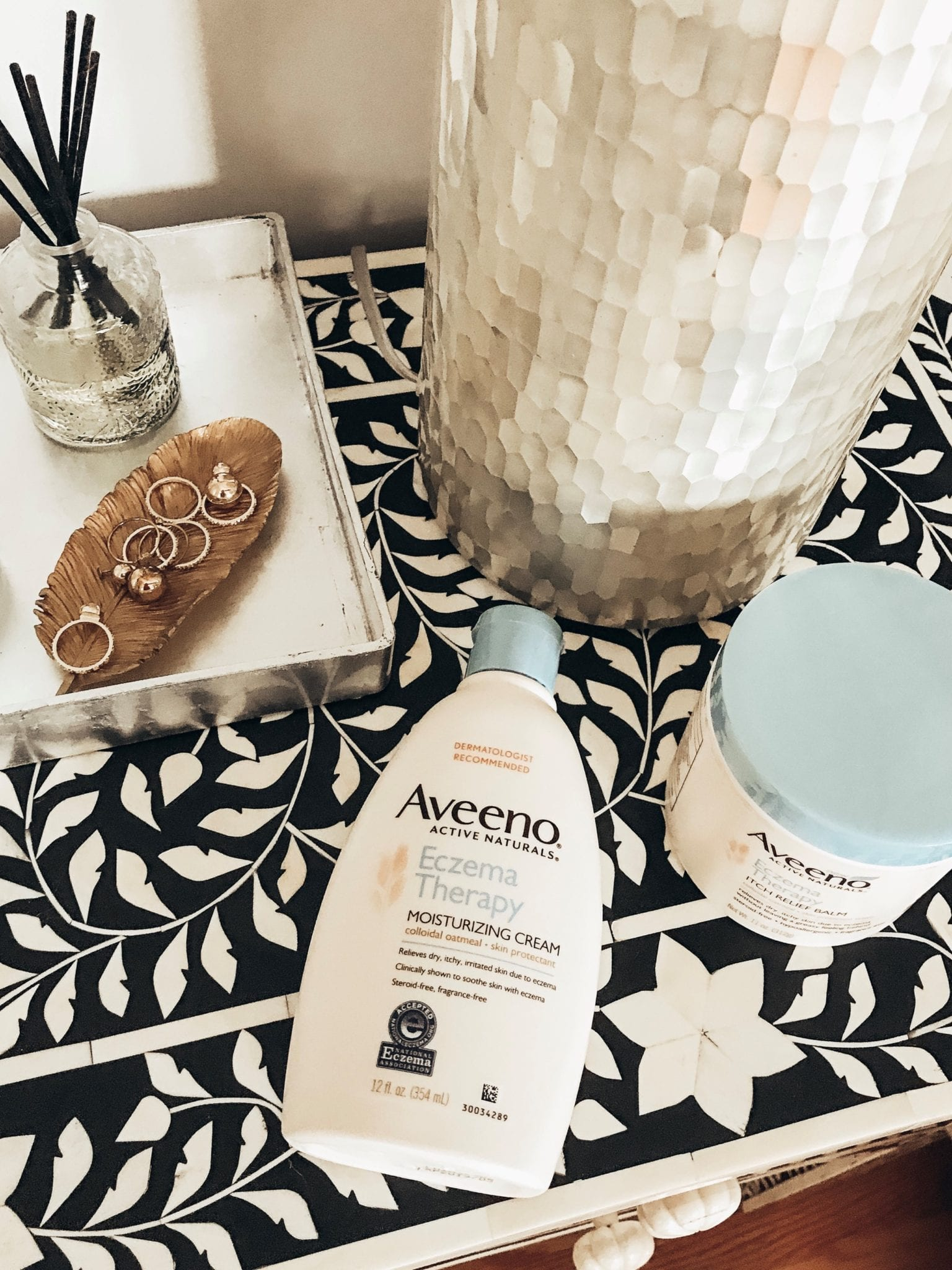 Aveeno Eczema Therapy | Aveeno | Lotion | THE BEST PRODUCTS FOR ECZEMA featured by top San Francisco beauty blog Just Add Glam