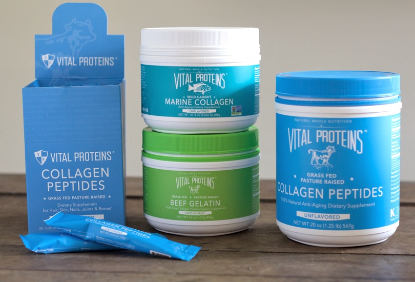 Vital Proteins Collagen Peptides | Vital Proteins Collagen Peptides by popular San Francisco beauty blog, Just Add Glam: image of  Vital Proteins Collagen Peptides, Vital Proteins Marine Collage, Vital Proteins Beef Gelatin, and Vital Proteins Collagen Peptides.