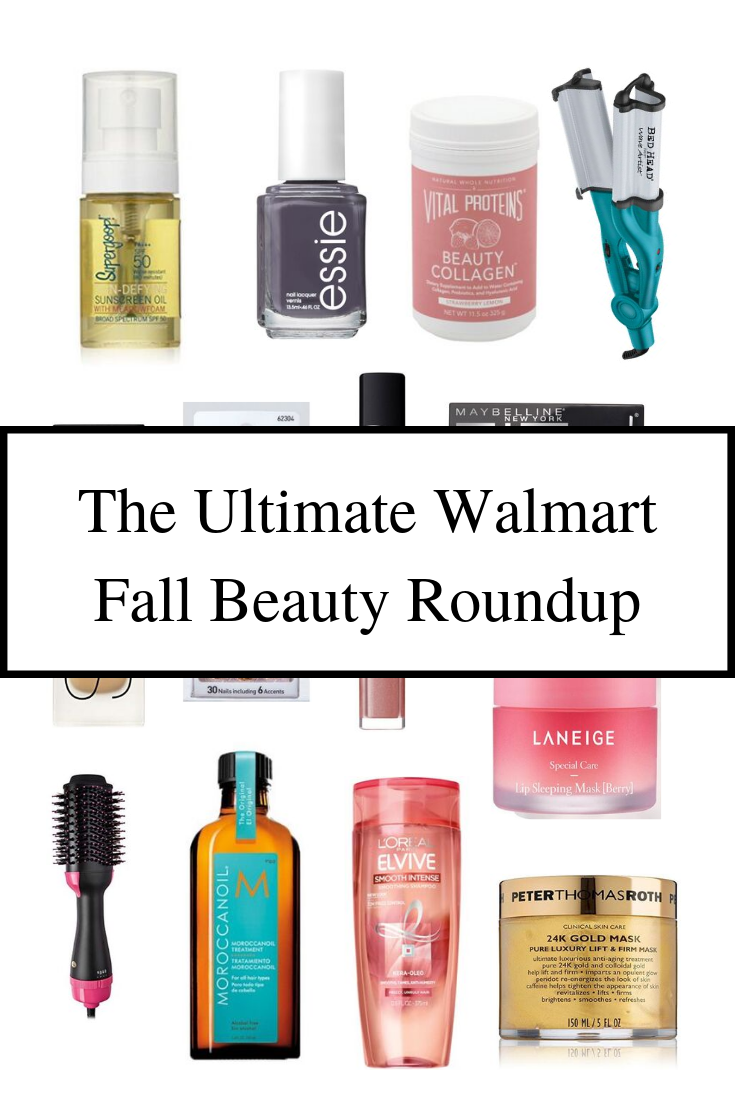 The Ultimate Walmart Fall Beauty Roundup I beauty blog I Walmart beauty I via justaddglam.com | The Ultimate Walmart Fall Beauty Products Roundup by popular San Francisco beauty blog, Just Add Glam: collage image of various Walmart beauty products.