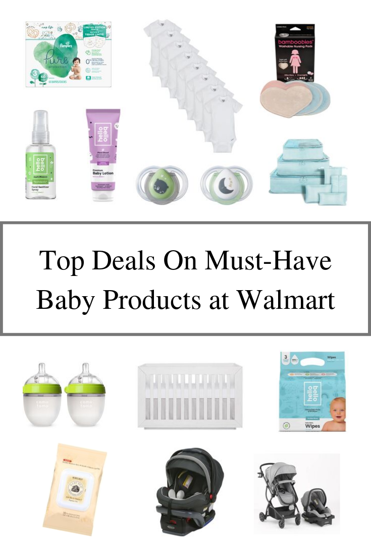 Top Deals On Must-Have Baby Products at Walmart I Baby products I via justaddglam.com | Top Deals On Must-Have Baby Essentials From Walmart by popular San Francisco life and style blog, Just Add Glam: collage image of various must-have baby essentials from Walmart.