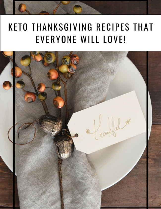 Keto Thanksgiving Recipes featured by top US lifestyle blog, Just Add Glam