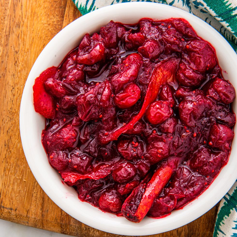 Keto Thanksgiving Recipes featured by top US lifestyle blog, Just Add Glam: keto cranberry sauce