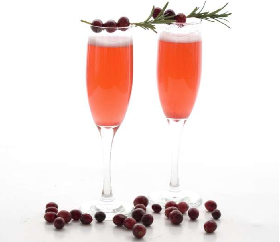 Keto Thanksgiving Recipes featured by top US lifestyle blog, Just Add Glam: cranberry champagne sparklers