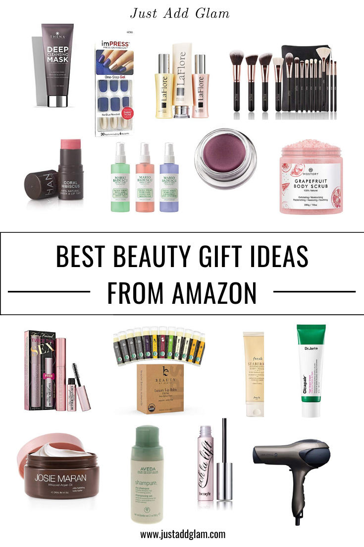Best Beauty Gift Ideas From Amazon I Gift Guide I via justaddglam.com