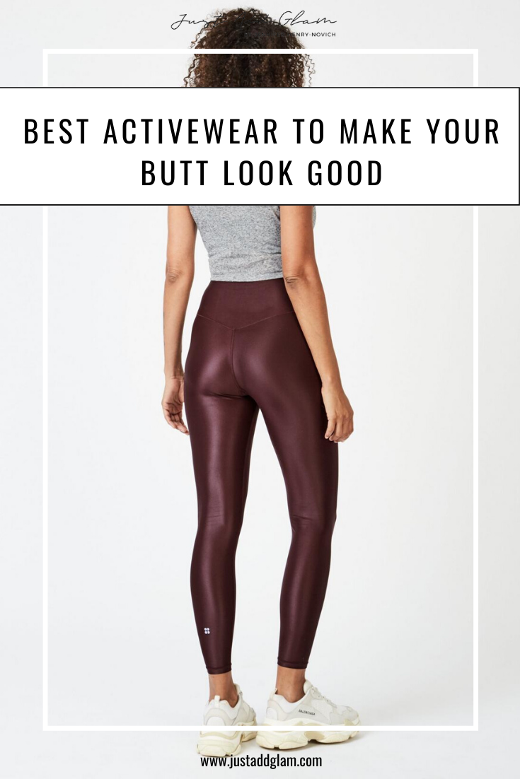 Best Activewear To Make Your Butt Look Good I Fashion Blog I via justaddglam.com | ACTIVEWEAR TO MAKE YOUR BUTT LOOK GOOD by popular San Francisco life and style blog, Just Add Glam: Pinterest image of a woman wearing leggings.