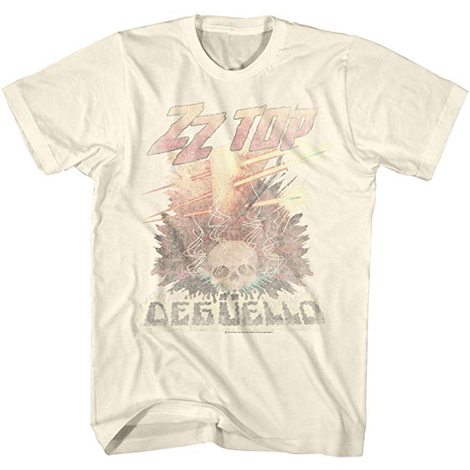 ZZ Top Tee Shirt Just Add Glam | 30 BEST VINTAGE BAND TEES by popular San Francisco life and style blog, Just Add Glam: image of a vintage ZZ Top tee.