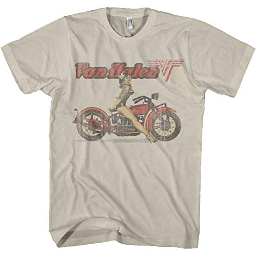 Van Halen Biker Girl Just Add Glam | 30 BEST VINTAGE BAND TEES by popular San Francisco life and style blog, Just Add Glam: image of a vintage Van Halen tee.
