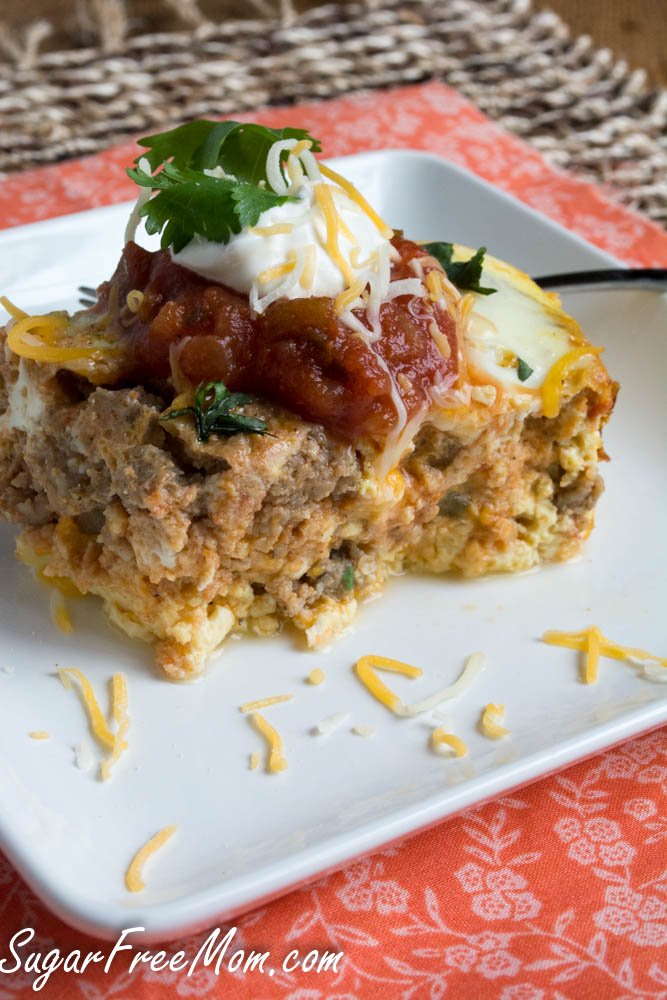 Crock-Pot-Mexican-Breakfast - Just-add-glam | HEALTHY KETO CROCKPOT RECIPES TO EASE YOU INTO THE NEW YEAR by popular San Francisco life and style blog, Just Add Glam: image of Keto mexican breakfast casserole.