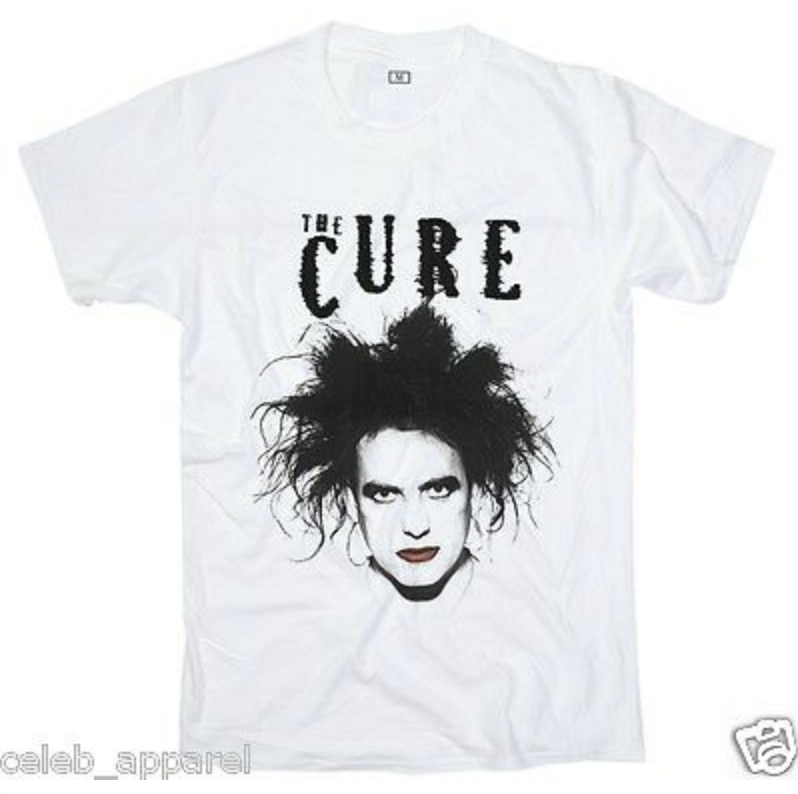 The Cure T Shirt Just Add Glam | 30 BEST VINTAGE BAND TEES by popular San Francisco life and style blog, Just Add Glam: image of a vintage The Cure tee.