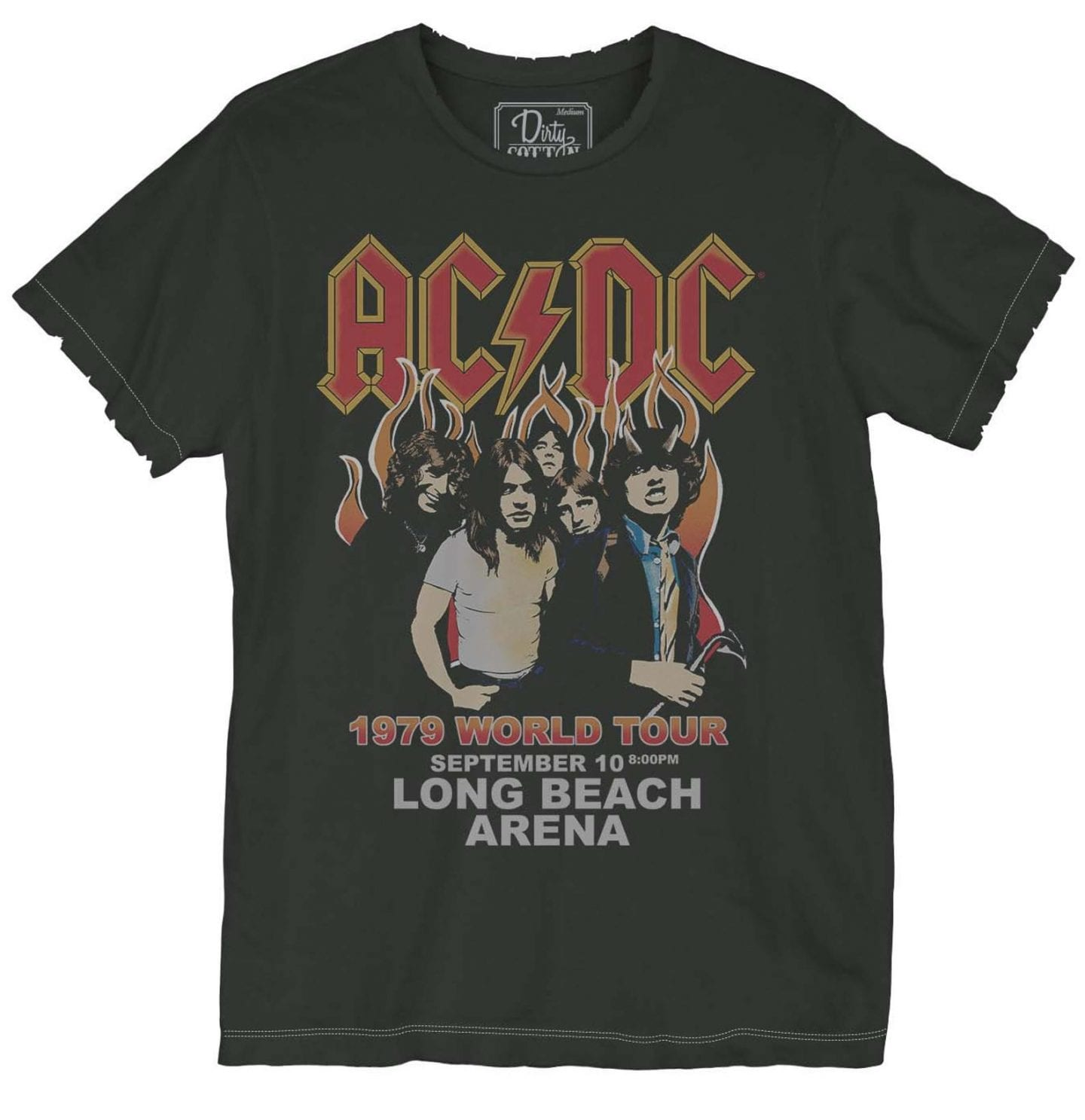 ACDC Tee Shirt Just Add Glam | 30 BEST VINTAGE BAND TEES by popular San Francisco life and style blog, Just Add Glam: image of a vintage AC/DC tee.