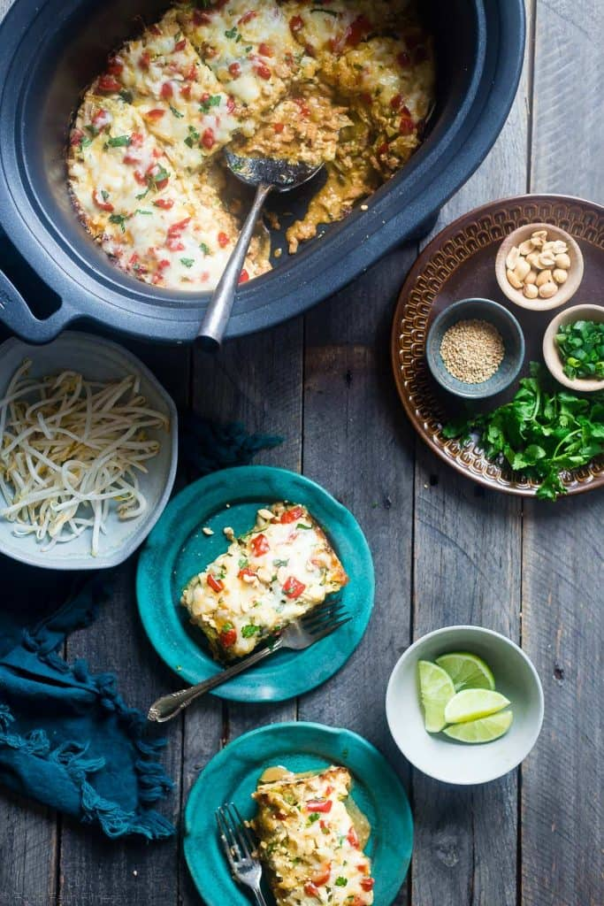thai-slow-cooker-zucchini-lasagna-just-add-glam | HEALTHY KETO CROCKPOT RECIPES TO EASE YOU INTO THE NEW YEAR by popular San Francisco life and style blog, Just Add Glam: image of crockpot Thai zucchini lasagna.